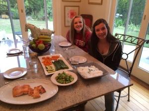 Sara & Siena @ my house summer 2014